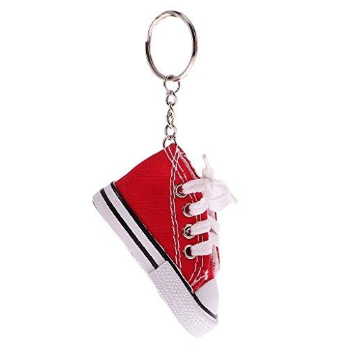Nopea Schlüsselanhänger Schuh Schuhe Mit Einem echtem Schnürsenkel Schlüssel Anhänger Schuhe Turnschuh Schlüsselring 1 Stück Rot