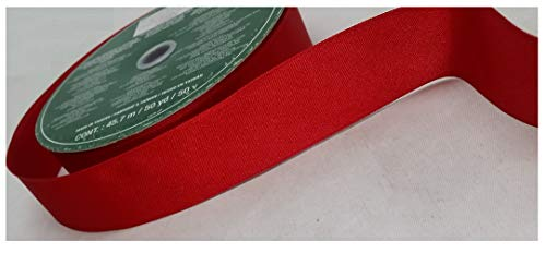 Kirkland Wire Edged Ribbon Red 50 yards 1.5 inches
