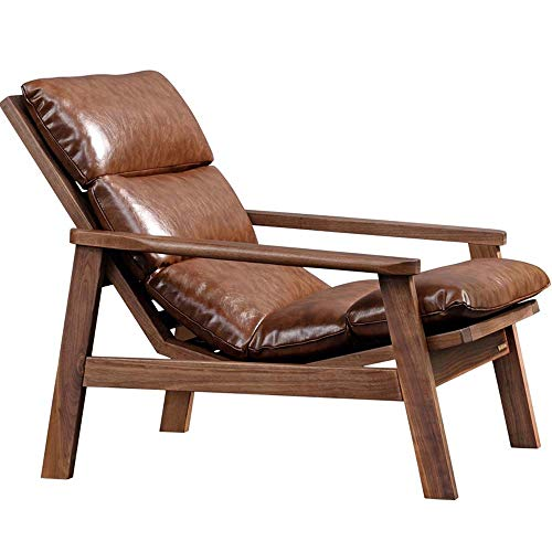 LY7 Amerikanisch Massivholz Liege Sofa BeiläUfig Ledersofa Winter und Sommer Dual-use Lounge-Sessel