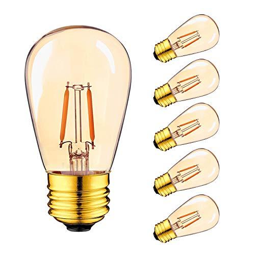 Luces para exteriores, E27 Tornillo de bombilla LED Edison, 1W S14 ST45...