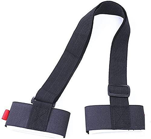 LXNQG Tension band Nylon Skiing Straps Adjustable Ski Pole Shoulder Hand Carrier Lash Handle Straps Porter Hook Loop Protecting For Ski Snowboard Fix and adjust (Color : Blue) (Color : Black)