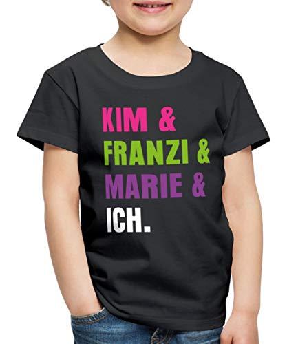Die DREI !!! (Ausrufezeichen) Kim & Franzi & Marie & Ich Kinder Premium T-Shirt, 110-116, Schwarz