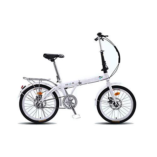 """YEDENGPAO Bicicleta Eléctrica Plegable, 16"""" De Fibra De Carbono De Bicicletas De Pedaleo Asistido Plegable Plegable Bicicleta con 9 Velocidad Y Extraíble,Blanco"""