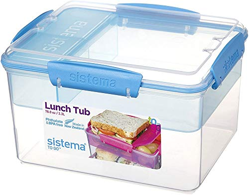 Sistema 21665 To Go Lunch Tub, 2.3 L - Assorted Colours