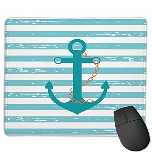 Benutzerdefinierte Office-Mauspad,Schiff Ankerkette Meereslebewesen inspiriert, Anti-Rutsch-Gummibasis Gaming Mouse Pad Mat Desk Decor 9.5 'x 7.9'