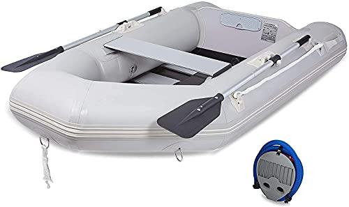 DARTMOOR Bote Hinchable para Adultos Capacidad 450KG Barca Hinchable para Pesca 330X150X42CM Bote Inflable con Remo para 4 Personas (330X150X42CM)