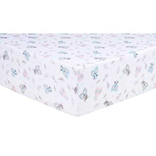 Trend Lab Jersey Fitted Crib Sheet, Feathered Friends