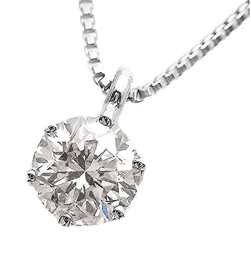 [あなたと私の宝石箱] プラチナ ダイヤモンド ネックレス ペンダント 0.3ct UP/SI-2 Goodカット一粒 Lカラー/鑑別書カード付 【誕生石4月】 【ギフトラッピング済み】4052
