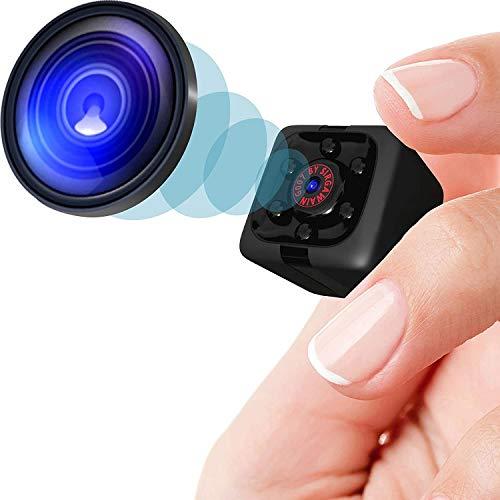 Mini Camara, 1080P HD Micro Camara Vigilancia Grabadora de Video Portátil con IR Visión Nocturna Detector de Movimiento, Camara Seguridad Pequeña Inalambrica Interior/Exterior