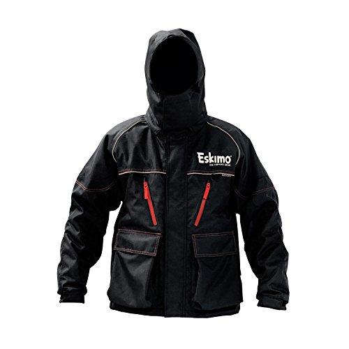 Eskimo Lockout Ice Fishing Jacket, Black, Large, Sureflote, 60g Thermadex Insulation, 100% PU Seam Taped, Removable Hood