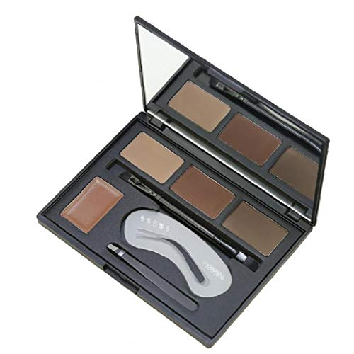 Ceja Kit de Alta Pigmento 4 Sombras Cejas Polvos Multifuncional ceja Maquillaje Paleta de Herramientas de composición Incluido