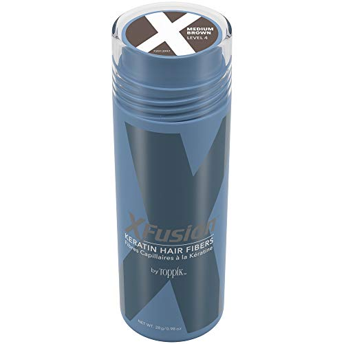 XFusion Keratin Hair Fibers, Economy Size, Medium Brown, 0.98 Oz