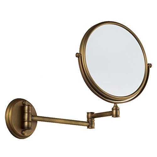 XXZY Miroir De Maquillage Grossissant, Miroir De Beauté Double Face, Antique, Extension Se Pliant, pour Salle De Bain Ou Coiffeuse