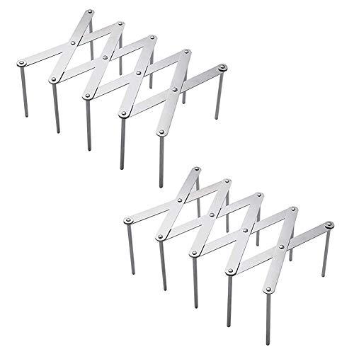 Adnikia Verstellbarer Edelstahl Topfdeckelhalter Dämpfer Abtropfgestell, Multifunktionaler Schneidebrett Tellerhalter, Deckel Halterung, Wand/Türmontierter Aufbewahrungsbehälter für Küchenschränke
