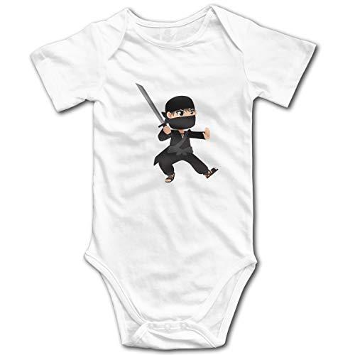 U are Friends Ninja-Art Nouveau-né GILR Boy Kid bébé Barboteuse Infantile à Manches Courtes pour Tout-Petit(2T,Blanc)