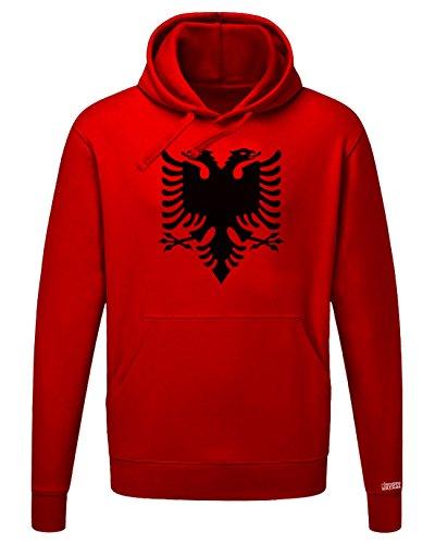 Jayess Albanien Adler - Albania - Herren Hoodie Kapuzenpullover by Rot by Gr. L