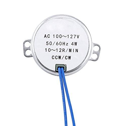 Motor Alupre, 1pc AC 100-127V 4W Motor síncrono 50/60Hz CCW/CW Motorreductor(10-12RPM)