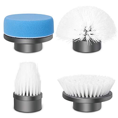 amzdeal 4 einstellbare Reinigungsbürstenköpfe Elektrische Reinigungsbürste, multifunktionale Bürstenköpfe für Boden, Küche, Badewanne