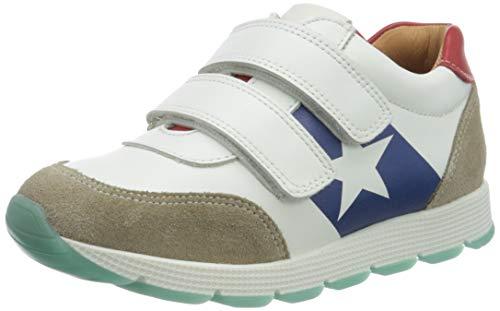 Bisgaard Unisex-Kinder Liam Sneaker, Mehrfarbig (White/red 1909), 27 EU