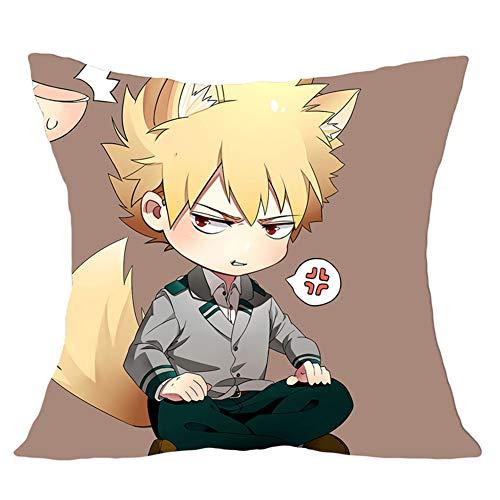 HomMall Anime My Hero Academia (Boku no Hero Academia) Square Throw Pillow Case Cushion Cover, 17.7 inch(1.H05)