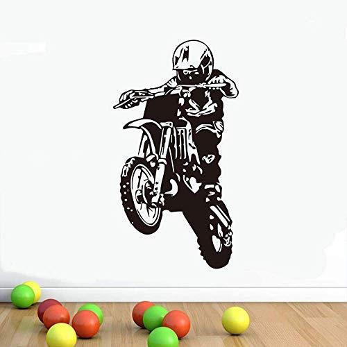 43 Cm X 78 Cm Motocross Wandaufkleber Motorrad Vinylkleber Abnehmbare Wandtattoo Boy Room Home Decor