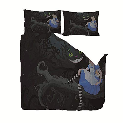 AHJJK Funda Edredon 200 x 200 cm Chica Azul nórdica de Microfibra 2 Fundas de Almohada 50x75cm Adecuado para la habitación de los niños y la habitación de los Padres.