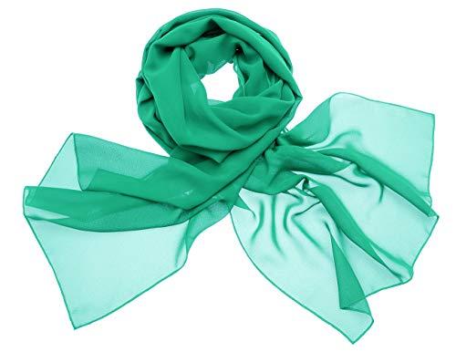 Dresstells Dresstells Chiffon Schal Stola für Abendkleider in Verschiedenen Farben Green 190cmX70cm/ Medium