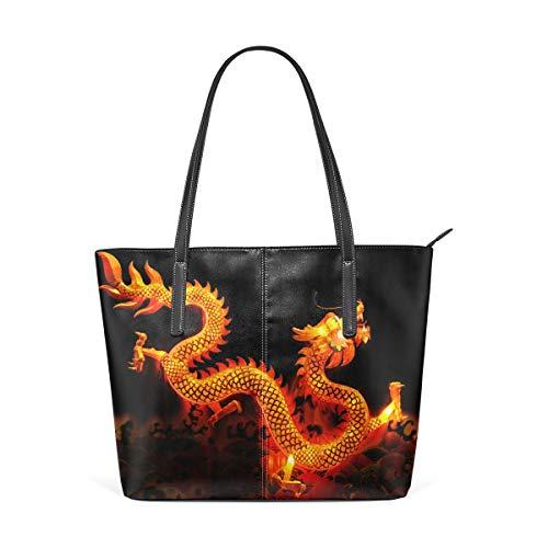 MONTOJ Chinesische Drache Laterne Handtaschen Schultertasche
