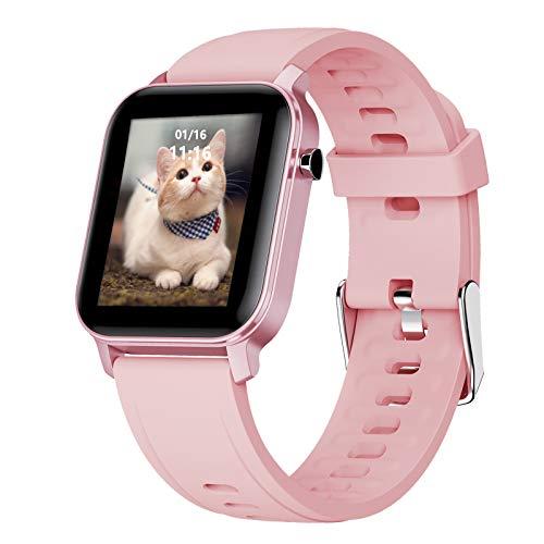 LIGE Smartwatch para Hombre, Monitor de Pantalla Táctil de 1,4'con Monitor de Frecuencia Cardíaca Oxígeno en la Sangre Respiración IP68 Resistente al Agua Reloj Inteligente para Android iOS