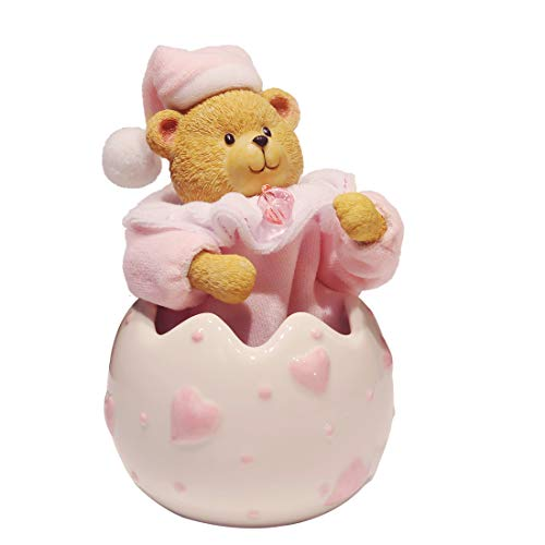ANGEL MELODY Shaking Head Baby Teddy Bear Music Boxes for Girls Mechanism Wind up Toy, Creative Birthday, Valentines Day Gifts for Kids, Baby, Daughter, Her, Boys(Pink)