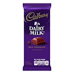 The rich flavor and velvety texture of 100% milk chocolate makes this premium chocolate bar a treat like no other. Try mixing CADBURY DAIRY MILK Bars with milkshakes, mousses, and more for a premium taste treat. Contains only 200 calories per serving...