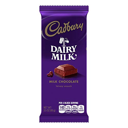 chocolate bars CADBURY DAIRY MILK Milk Chocolate Candy, Halloween, 3.5 oz Bar (14 ct)