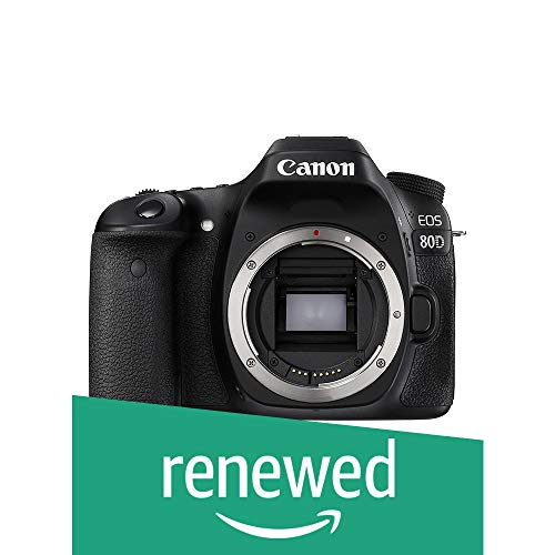 For Sale! Canon EOS 80D Digital SLR Camera Body (Black) (Renewed)