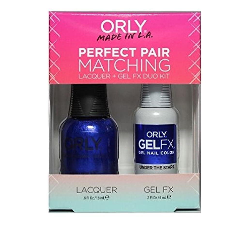 罹患率道路を作るプロセス私Orly Lacquer + Gel FX - Perfect Pair Matching DUO Kit - Under The Stars