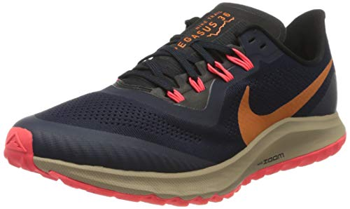 Nike Air Zoom Pegasus 36 Trail, Zapatillas para Correr Hombre, Multicolor (Obsidian Magma Orange Black Laser Crimson Khaki), 42 EU