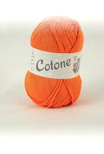 Lana Grossa Cotone 039 jaffa orange 50g Wolle