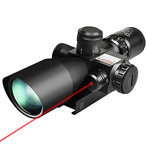 CVLIFE 2.5-10x40e Red & Green Illuminated Scope with 20mm Mount
