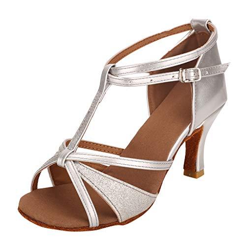 Mode Womens Sandalen, dames Waltz moderne dans schoen Ballroom Latin Dance zachte bodem gesp riem schoenen