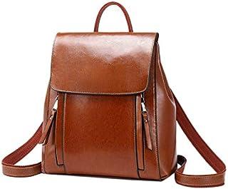 TOOGOO Fashion Backpack Women Split Leather Travel Woman Backpack Women Back Pack Female Backpack Brown