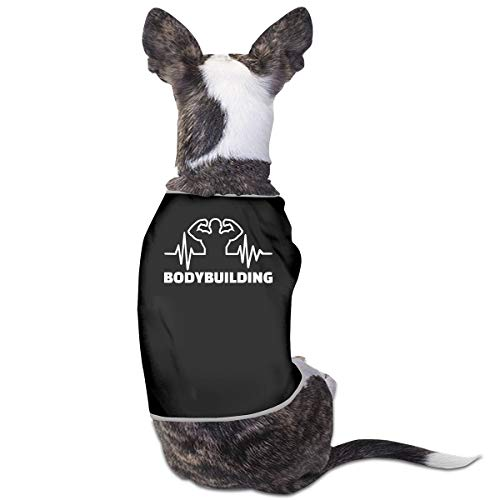COLLJL8 Bodybuilding Heartbeat Pet Dog Clothing Costume Puppy Dog Clothes Vest Tee Shirts