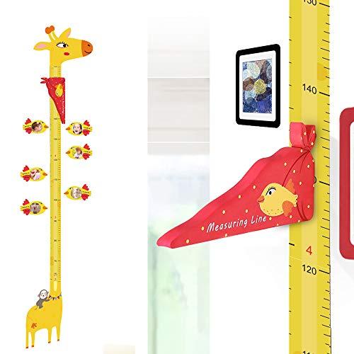 UCMD Magnetische Messlatte, Höhenmesslineal für Kinder, Giraffen-Tier-Wachstumsgrößen-Lineal, Kinderzimmer, Wanddekoration, Lineal