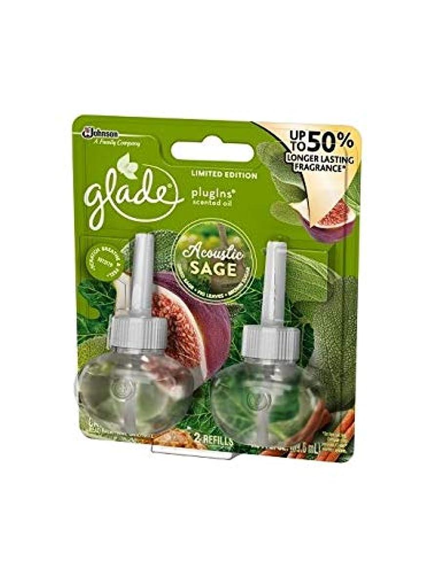 放射能オークション慢【glade/グレード】 プラグインオイル 詰替え用リフィル(2個入り) アコースティックセージ Glade Plugins Scented Oil Acoustic Sage Blossom 2 refills 1.34oz(39.6ml) [並行輸入品]