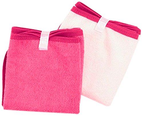 Baby to Love 300890 - Set de 2 toallas para cambiador, color blanco y rosa