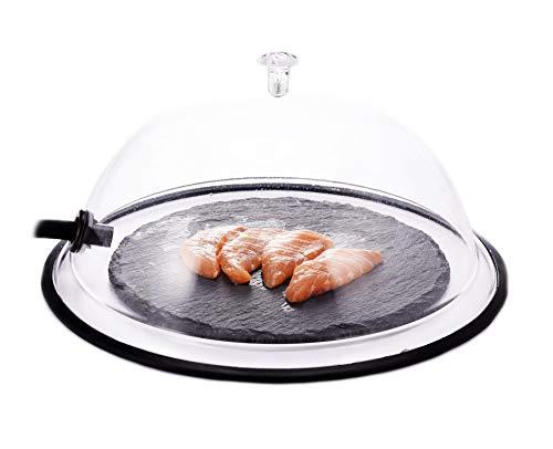 TMKEFFC - Tapa de cúpula para fumar (10 pulgadas), tapa para platos, cuencos y vasos, infusor de humo
