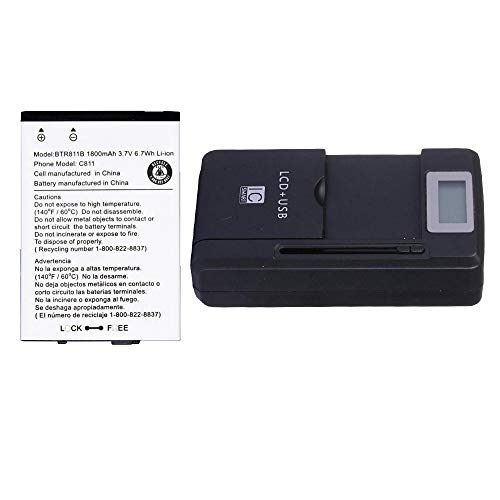 Generic Battery BTR811B G'zone Commando C811 with External Battery Charger | 2 Year Limited Warranty