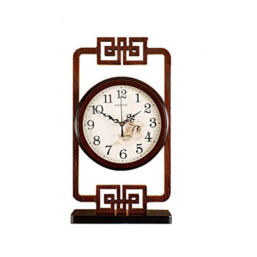 Nuevo Reloj de Escritorio Retro Chino Escritorio Creativo péndulo Reloj Reloj de Escritorio Reloj de la Sala de Estar (Color : A)