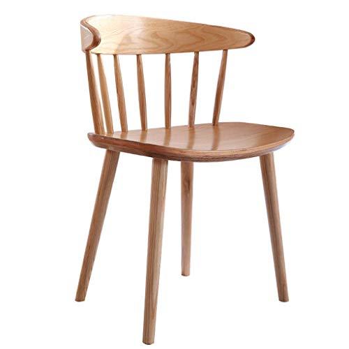 HLJ Massivholz Esszimmerstuhl Studie Esszimmer Rückenlehne Sessel Startseite Retro Windsor-Stuhl Nordic Moderne Minimalist