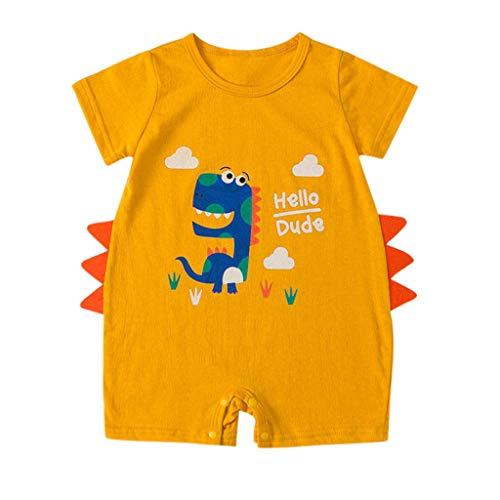 MAYOGO Bebé ReciéN Nacido Mameluco Bebé NiñO Manga Corta O-Cuello Carters Pelele Verano Mono Traje de bebé niño Pijama Camiseta Ropa de Dormir para Bebe Unisex de 0 a 18 Meses