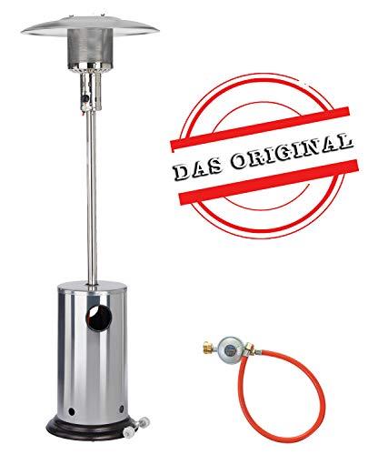 Gas Heizpilz aus Edelstahl von Activa | Heizstrahler für Terrassen - mit Kippschutz und Abschaltautomatik - bis zu 8,3kW Heizleistung