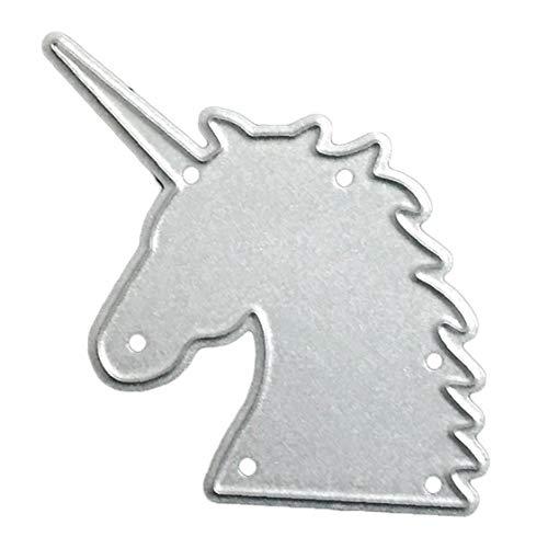 Zonfer Unicornio Die Cut para Corte De Metal Die DIY Plantillas Plantilla De Grabación En Relieve para La Fabricación De La Tarjeta, El Scrapbooking, Hacer A Mano Papel